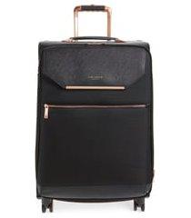 ted baker london medium albany 27-inch spinner suitcase - black