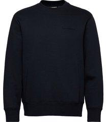 chip crew neck sweatshirt sweat-shirt trui blauw j. lindeberg