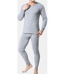 casual confortevole respirabile colour-colour colour inside thicken pigiama pigiama set per uomini
