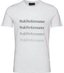m ground tee 2 white t-shirts short-sleeved vit peak performance