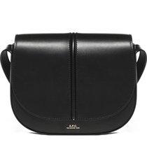 a.p.c. betty leather shoulder bag
