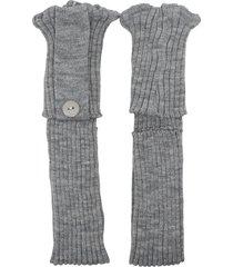 polaina ayron fitness max lã com botão cinza