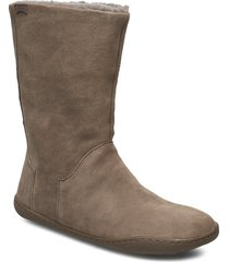 peu cami shoes boots ankle boots ankle boots flat heel beige camper