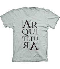 camiseta baby look lu geek arquitetura prata - prata - feminino - dafiti