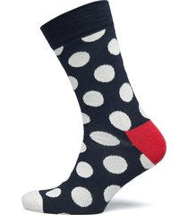 big dot sock ankelstrumpor korta strumpor svart happy socks