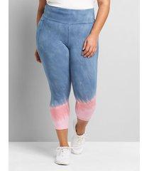 lane bryant women's livi high-rise signature stretch capri legging 38/40 moonlight blue