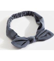 women's penelope velvet corduroy hair bow in navy by francesca's - size: one size