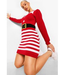 mrs claus kersttrui jurk, red