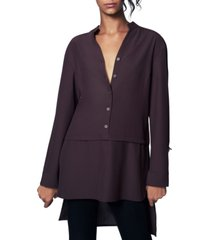 b new york v-neck high-low tunic