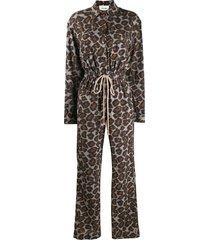 nanushka odella drawstring jumpsuit - grey