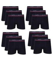 kit 12 cuecas boxer algodão cotton lupo masculina