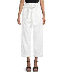 joe's jeans women's linen & cotton-blend paperbag pants - white - size 23 (00)