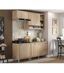 cozinha compacta completa multimã³veis com 4 peã§as sicãlia 5810 argila/argila - bege/incolor - dafiti