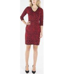 nanette nanette lepore v-neck 3/4 sleeve shift dress