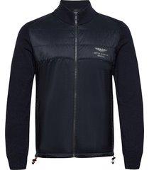 amr kntd track fzip sweat-shirts & hoodies fleeces & midlayers blauw hackett london
