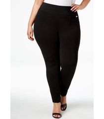 calvin klein plus size pull-on skinny compression pants