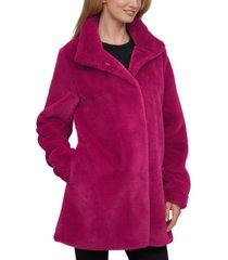 calvin klein petite faux-fur coat