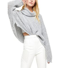 women's free people bff cowl neck sweater, size medium - grey
