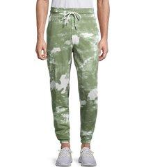 true religion men's tie-dye joggers - green - size xxxl