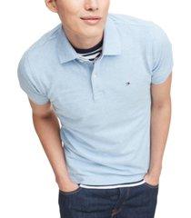 tommy hilfiger men's slim-fit stretch polo shirt