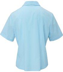 blouse met korte mouwen van mayfair by peter hahn blauw