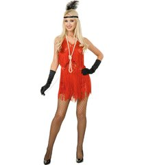 01694 (medium, red) chicago flapper dress adult charades 1920s dress