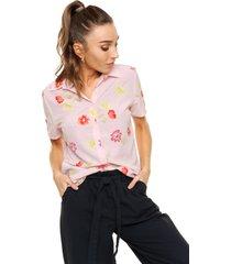 camisa rosa odas flores