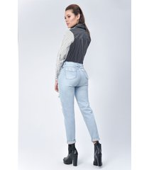pantalón jeans dama azul claro di bello jeans  classic boyfriend ref j109