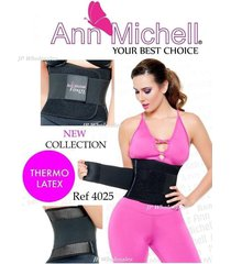 ann michell fitness with latex gym belt, workout, back support colombian sport