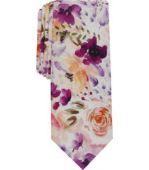 bar iii men's newstead floral slim tie, created for macy's