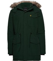winter weight microfleece jacket parka jas groen lyle & scott