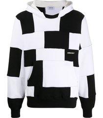 ambush patchwork-effect hoodie - white