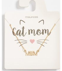 maurices womens dainty cat mom necklace