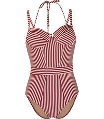 marlies dekkers striped vintage-style one piece - neutrals