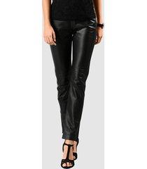 leren broek alba moda zwart