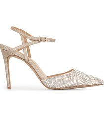 badgley mischka fedora crystal-embellished pumps - silver
