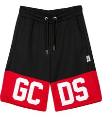 black shorts with red band
