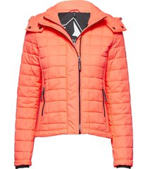 hooded box quilt fuji jacket doorgestikte jas oranje superdry