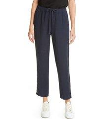 women's eileen fisher tie waist ankle pants, size xx-small - blue