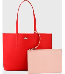 bolso doble faz rojo-rosado lacoste