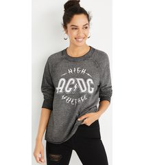 maurices womens gray acdc graphic sweatshirt