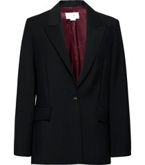 boxy wool mohair jacket blazers business blazers svart victoria victoria beckham