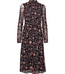 pzjessica dress knälång klänning multi/mönstrad pulz jeans