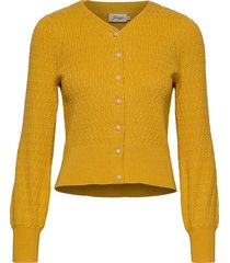 johanna gebreide trui cardigan geel jumperfabriken