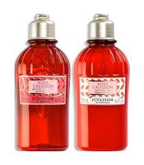 l'occitane duo banho e hidratação rose calisson