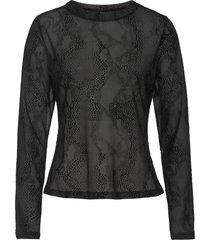 maglia in mesh con stampa flock animalier (nero) - bodyflirt