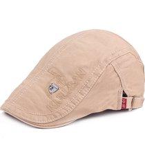 uomo casual berretto regolabile in cotone ricamato in lettere con visiera berretto con protezione solare