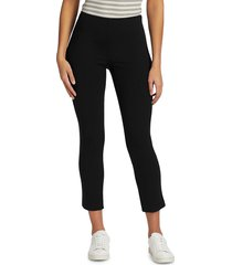 theory women's high-rise cropped leggings - black - size 12