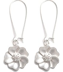 elegante orecchini a goccia con fiore bianco orecchini etnici vintage piercing per le donne