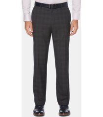 perry ellis men's portfolio modern-fit windowpane plaid dress pants